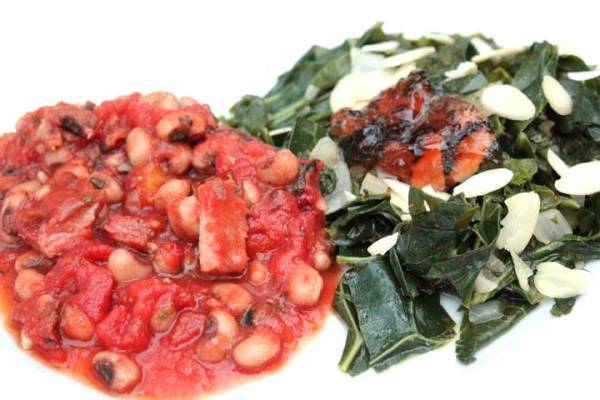 Spicy Hoppin John and Collard Greens
