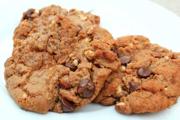 Peanut Butter Bacon Cookies with Chocolate Chips