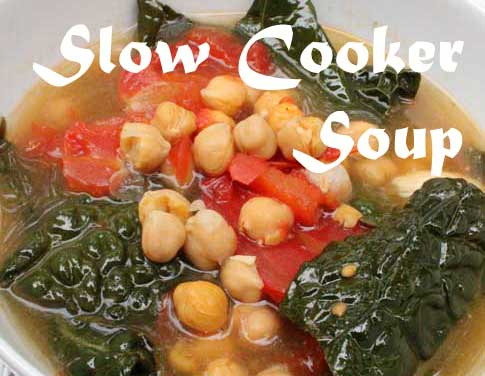 Slow Cooker Kale and Chickpea Soup