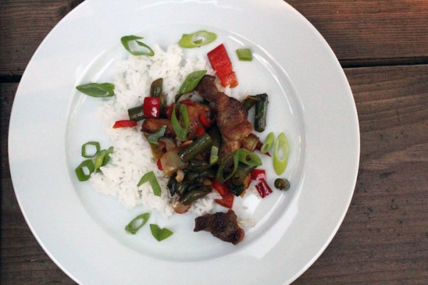 Crispy Pork with Baby Bok Choy Stir Fry