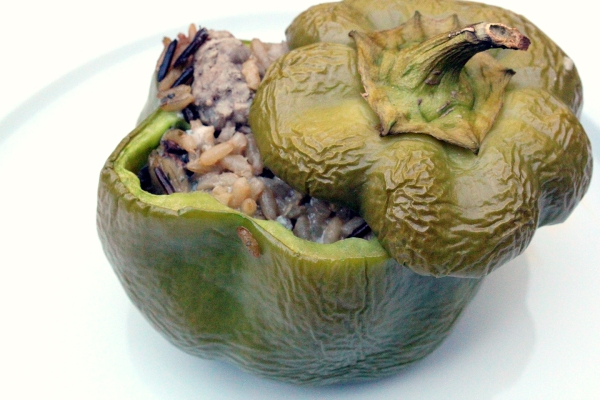 stuffed green bell pepper