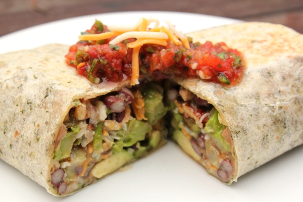 Quick Veggie Burritos